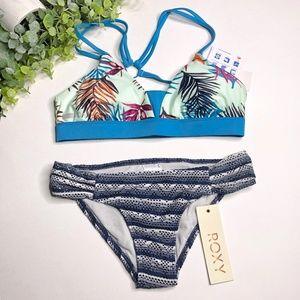 NWT Roxy Blue & Grey 2 Piece Bikini - Size S